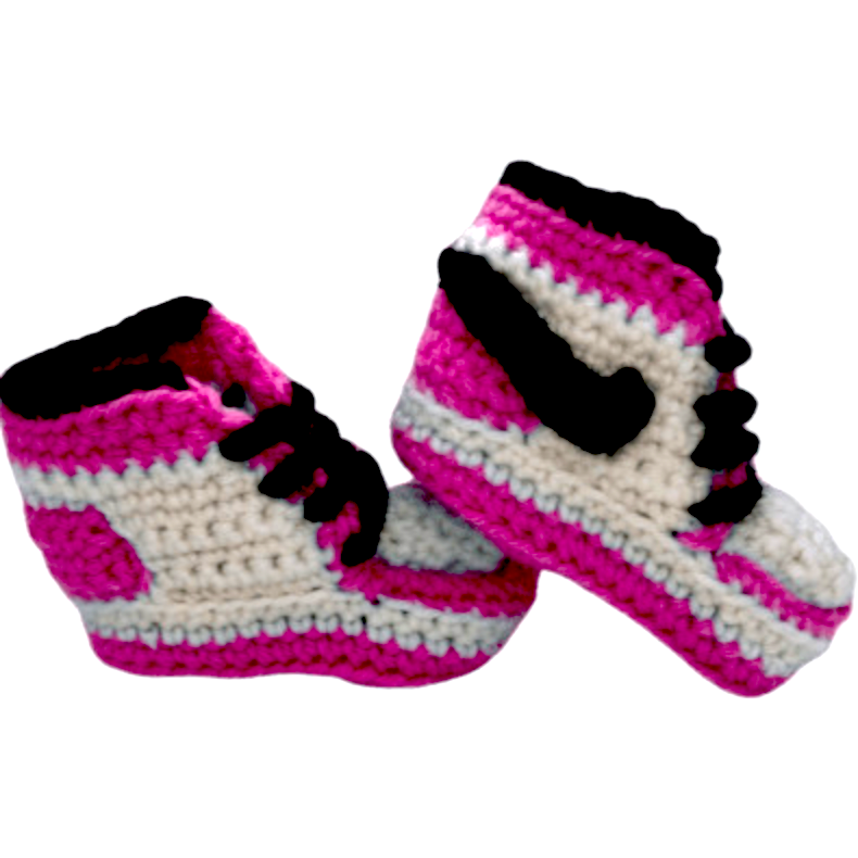 Baby Crochet J-1 Hot Pink Shoes