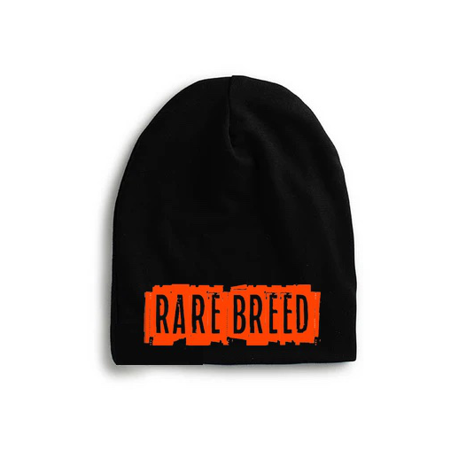 'Rare Breed' Orange Fluorescent Baby Beanie [Black]