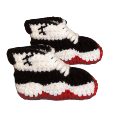 Baby Crochet J-11 Air Low 'Concord-bred' Shoes - Crochet World Art