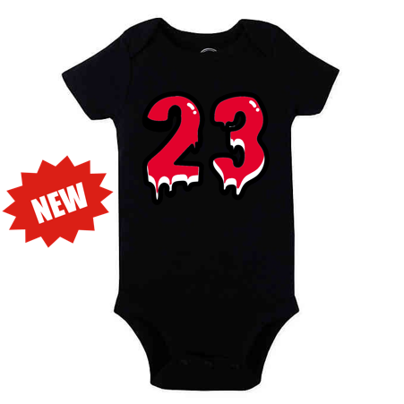 Baby Bodysuit '23' Royal Red[White]