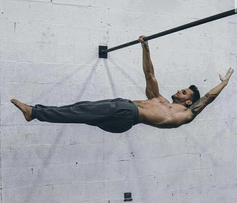 One arm front lever calistenia ignittion