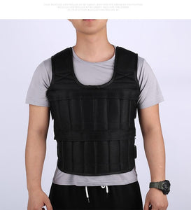 30KG Loading Weight Vest For Boxing Weight Training Workout Fitness Gym Equipment Adjustable Waistcoat Jacket Sand Clothing - TheLeapFit