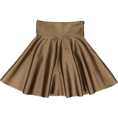 Teela Gold Metallic Circle Skirt