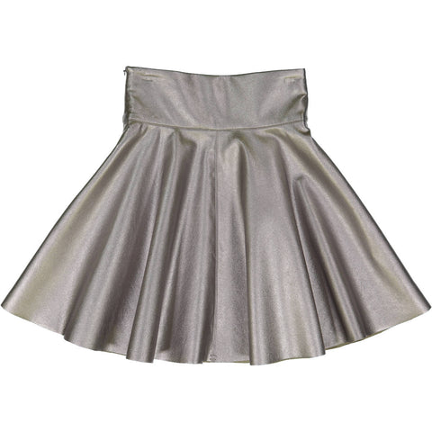Teela Silver Metallic Circle Skirt