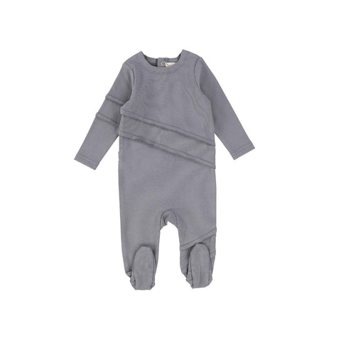 Analogie Soft Grey Cotton Footie