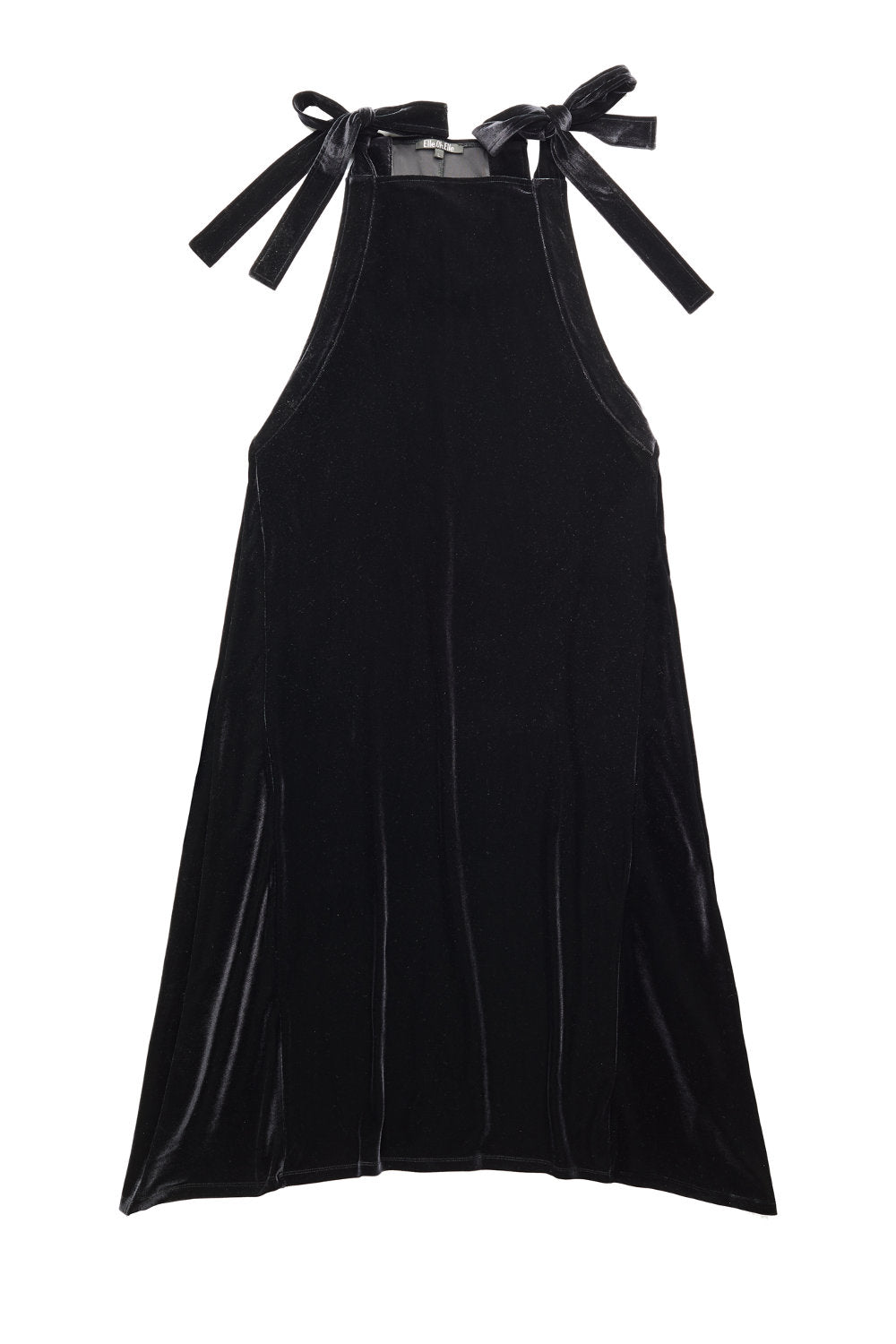 Elle.Oh.Elle Black Velour Maxi Dress