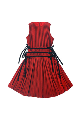 ZAIKAMOYA Red Pleated Jumper