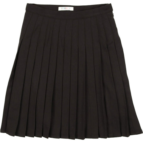 Coco Blanc Black Pleated Skirt