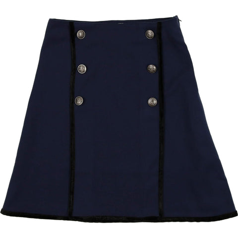 Coco Blanc Navy Double Breasted Skirt