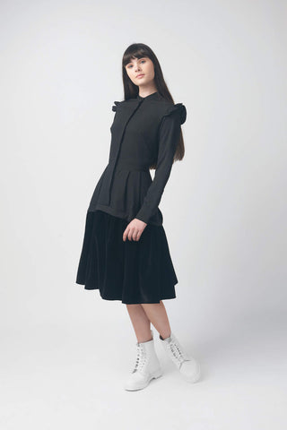 Elle.Oh.Elle Black Combo Dress
