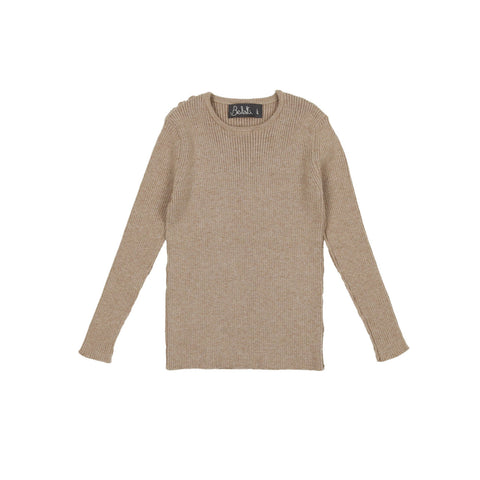 Belati Oatmeal Basic Crew Neck Sweater