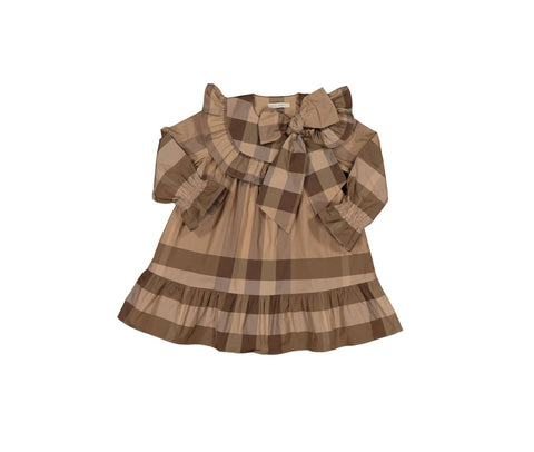 Carbon Soldier Brown Check Mustardseed Dress