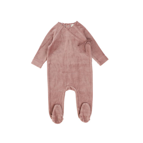 Analogie Blush Velour Wrap Footie