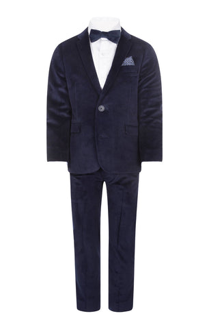 Appaman Peacoat Velvet 2-Piece Mod Suit