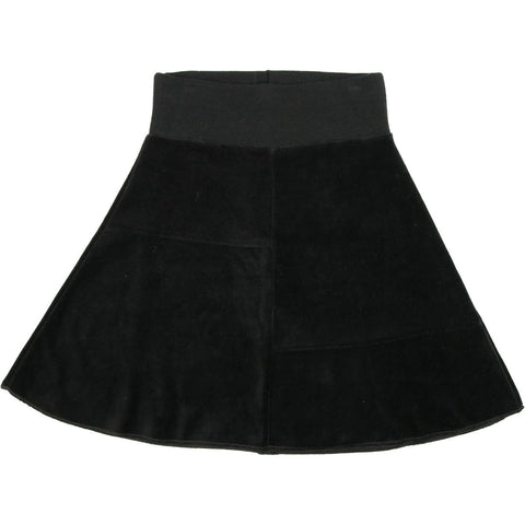 Urbani Black Velour Skirt