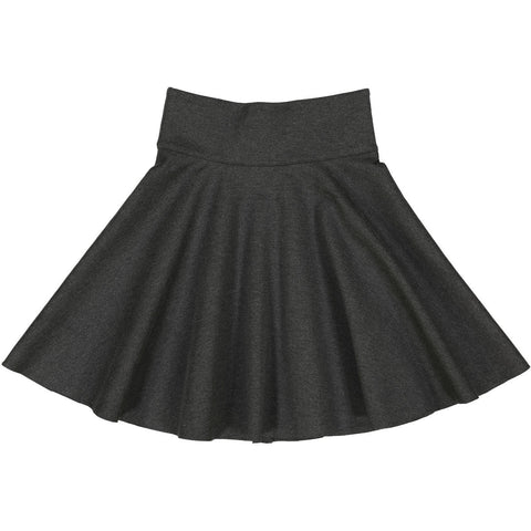 Teela Charcoal Grey Ponte Circle Skirt