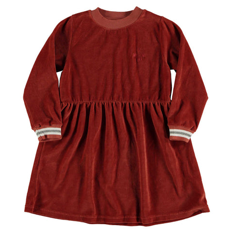 Picnik Rust Velour Dress