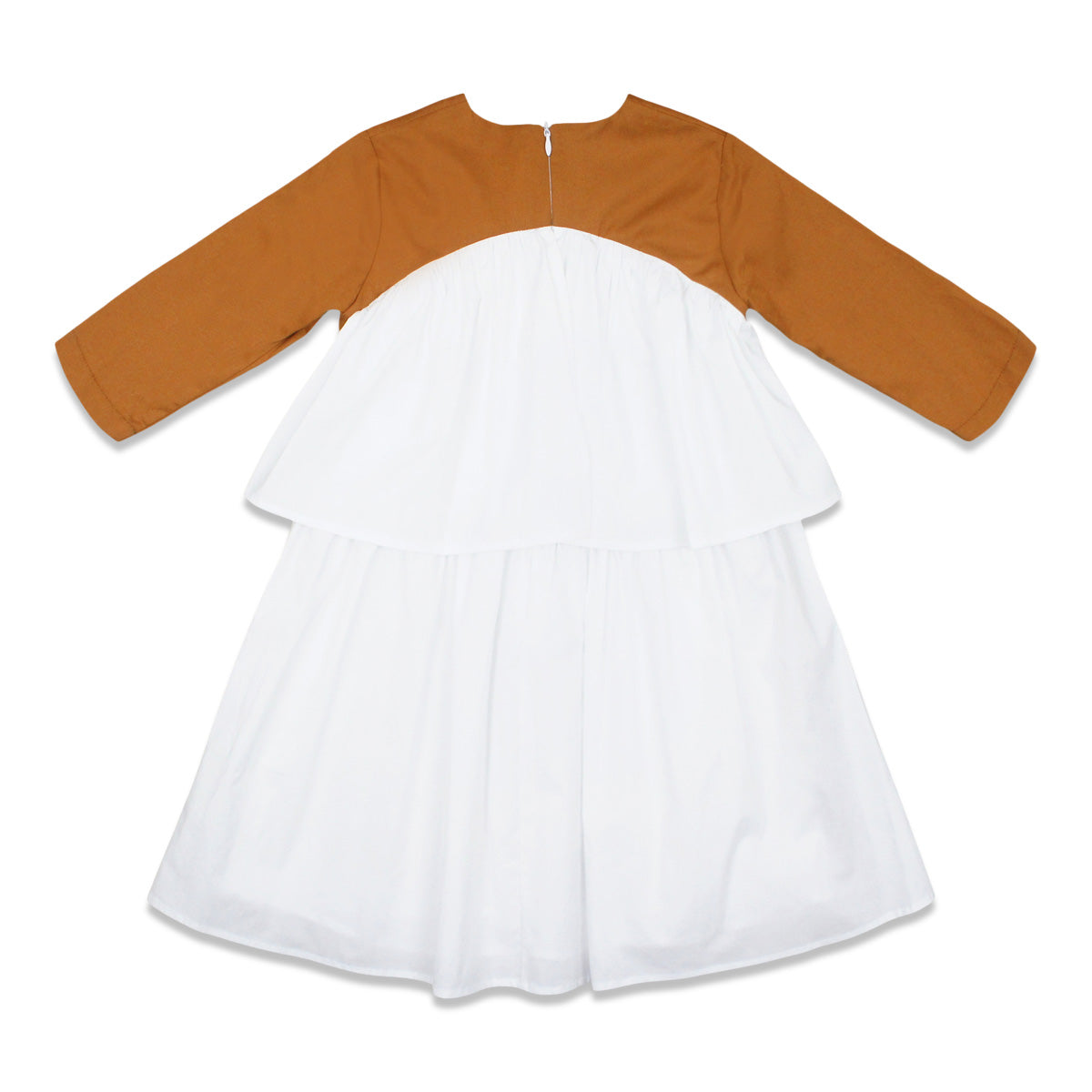 Alitsa Cinnamon Ruffle Dress