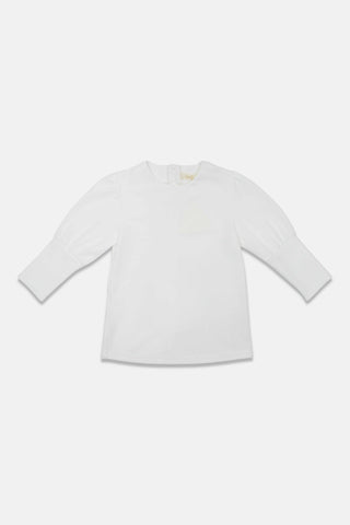 Alitsa Ivory Drop Puff Sleeve Top