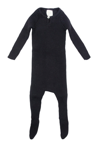 Analogie Black Knit Footie