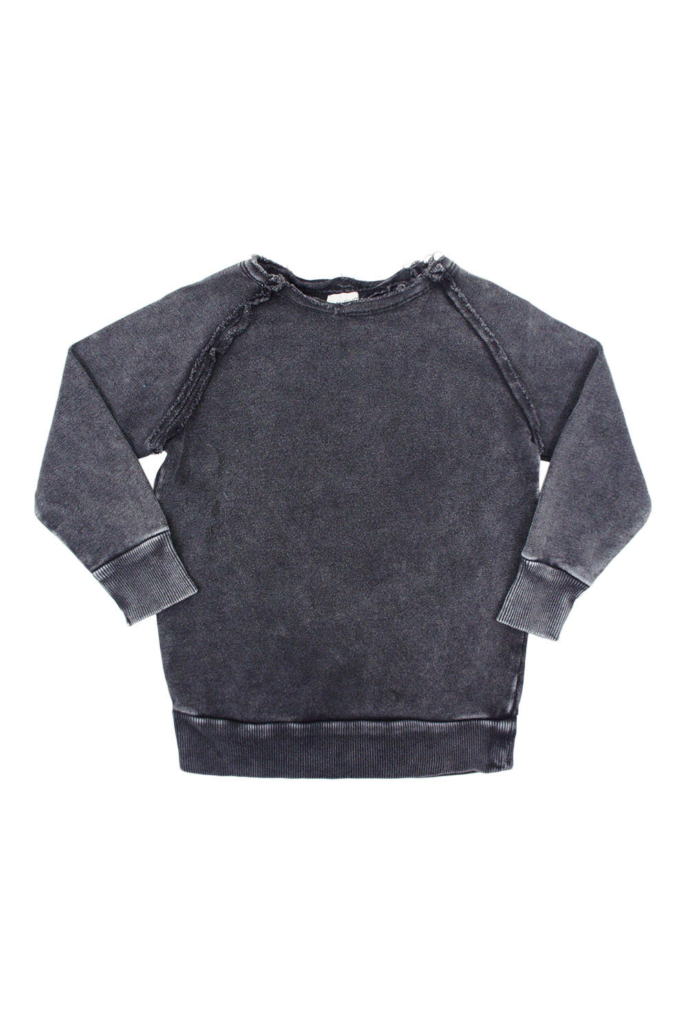 Analogie Black Wash Denim Raglan Sweater