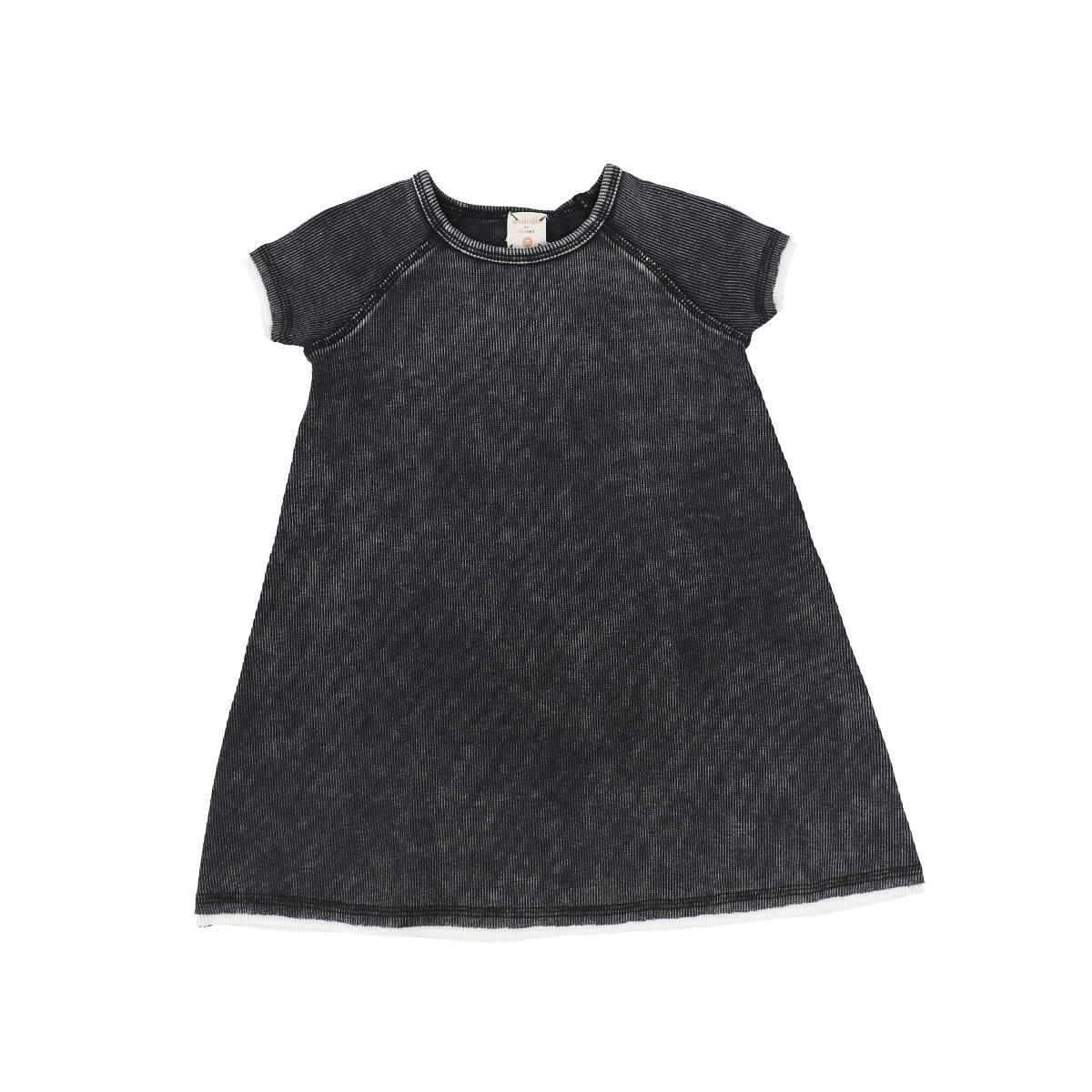 Analogie Black Wash Denim Short Sleeve Dress