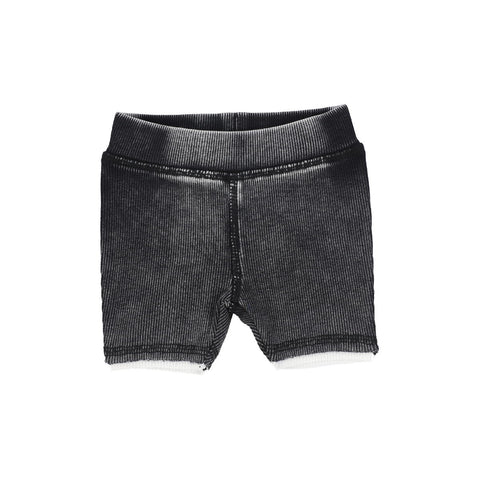 Analogie Black Wash Denim Shorts