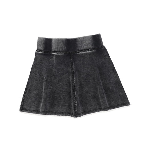 Analogie Black Wash Denim Skirt