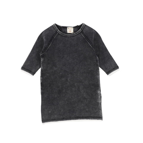 Analogie Black Wash Denim Three Quarter Sleeve Tee