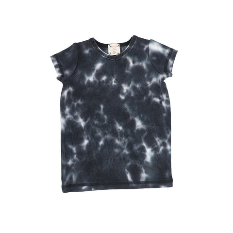 Analogie Black Watercolor Short Sleeve V-Tee