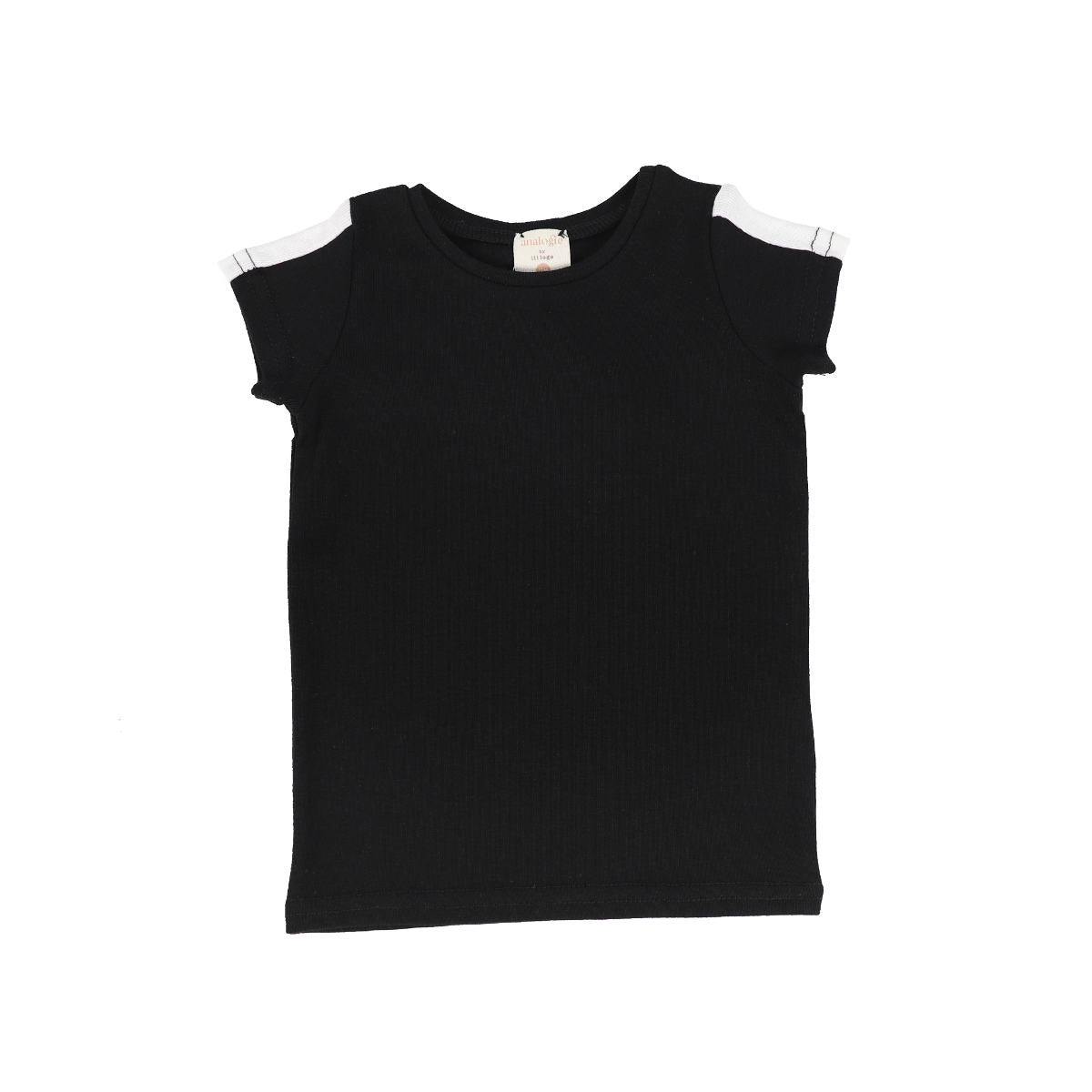 Analogie BlackWhite Short Sleeve Linear Tee