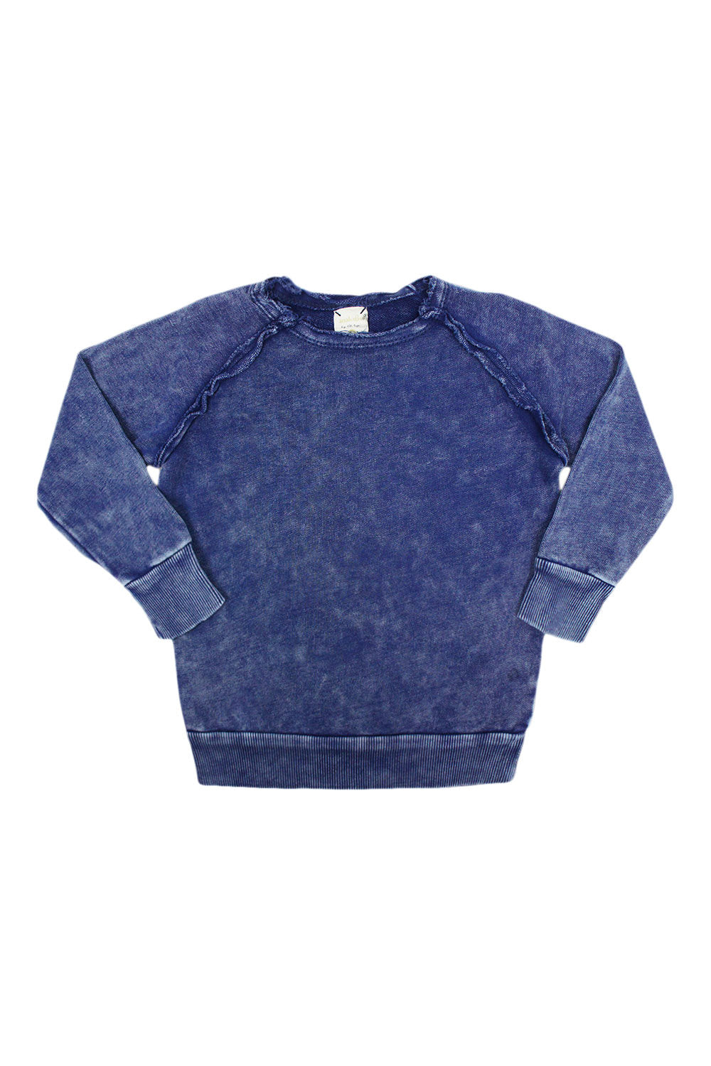 Analogie Blue Wash Denim Raglan Sweater