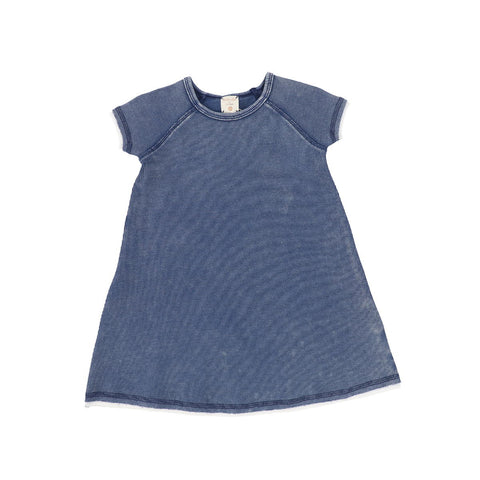 Analogie Blue Wash Denim Short Sleeve Dress