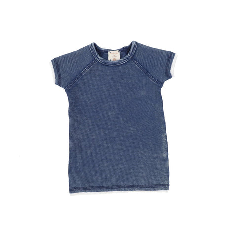 Analogie Blue Wash Denim Short Sleeve Tee