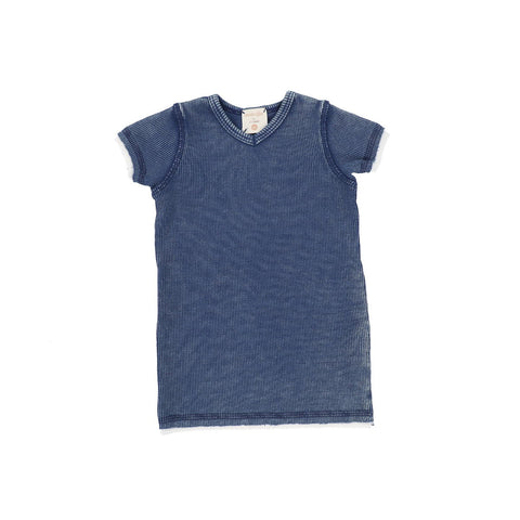 Analogie Blue Wash Denim Short Sleeve V-Tee