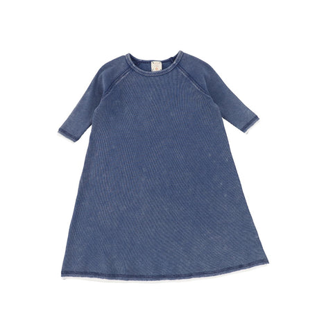 Analogie Blue Wash Denim Three Quarter Sleeve Dress
