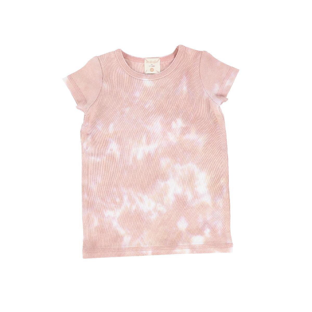 Analogie Blush Watercolor Short Sleeve Tee