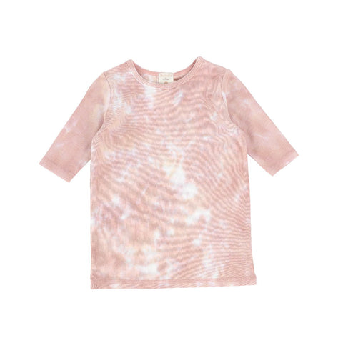 Analogie Blush Watercolor Three Quarter Sleeve Tee