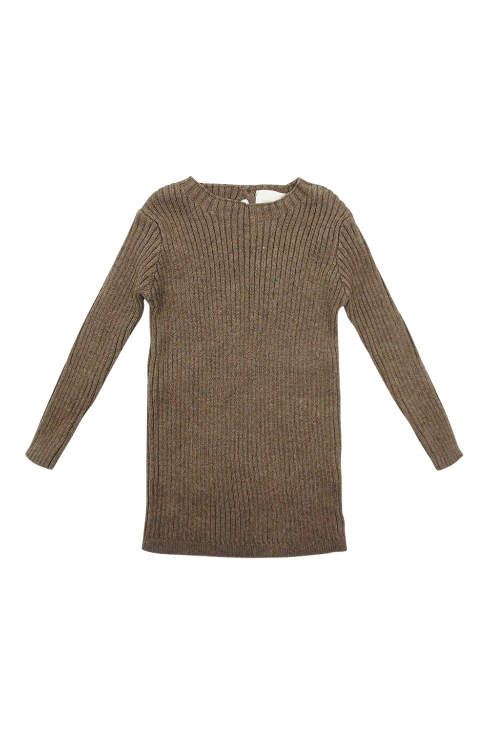 Analogie Dark Walnut Long Sleeve Knit Sweater