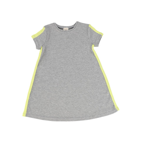 Analogie GreyNeon Short Sleeve Linear Dress