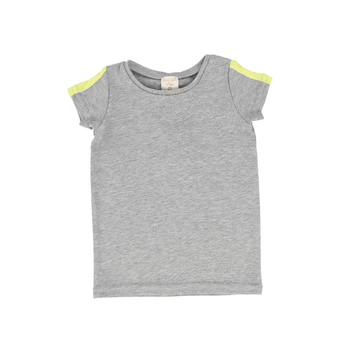 Analogie GreyNeon Short Sleeve Linear Tee
