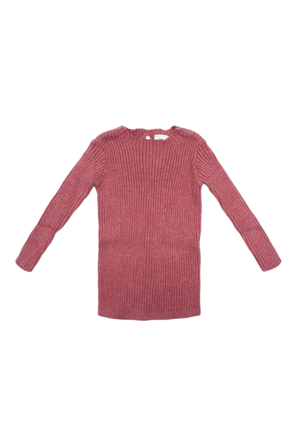 Analogie Mauve Long Sleeve Knit Sweater