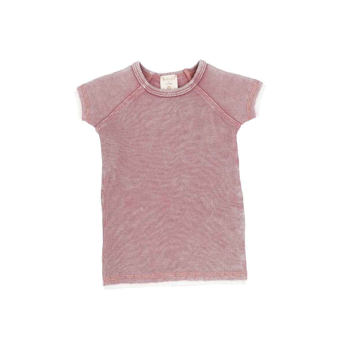 Analogie Pink Wash Denim Short Sleeve Tee