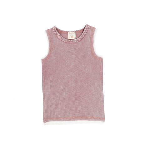 Analogie Pink Wash Denim Tank