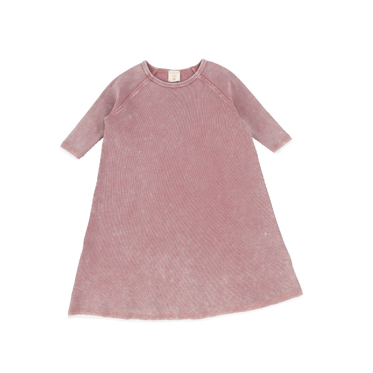 Analogie Pink Wash Denim Three Quarter Sleeve Dress