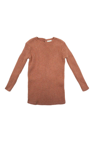 Analogie Salmon Long Sleeve Knit Sweater