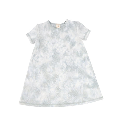 Analogie Seafoam Watercolor Short Sleeve Dress