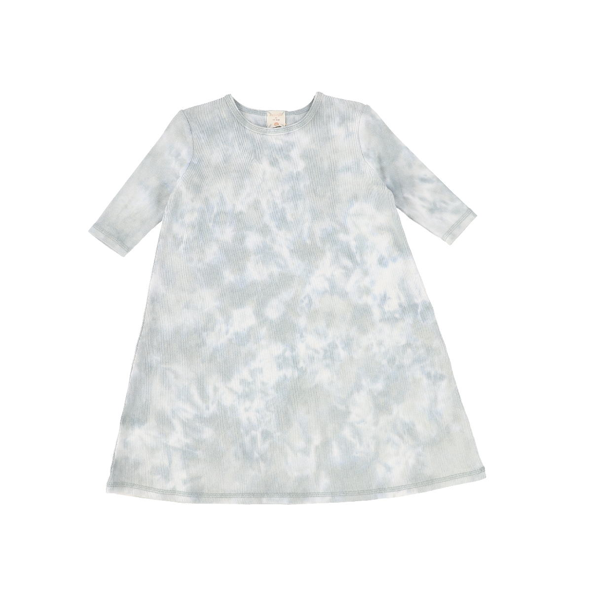 Analogie Seafoam Watercolor Three Quarter Sleeve Dress
