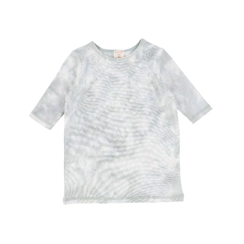 Analogie Seafoam Watercolor Three Quarter Sleeve Tee