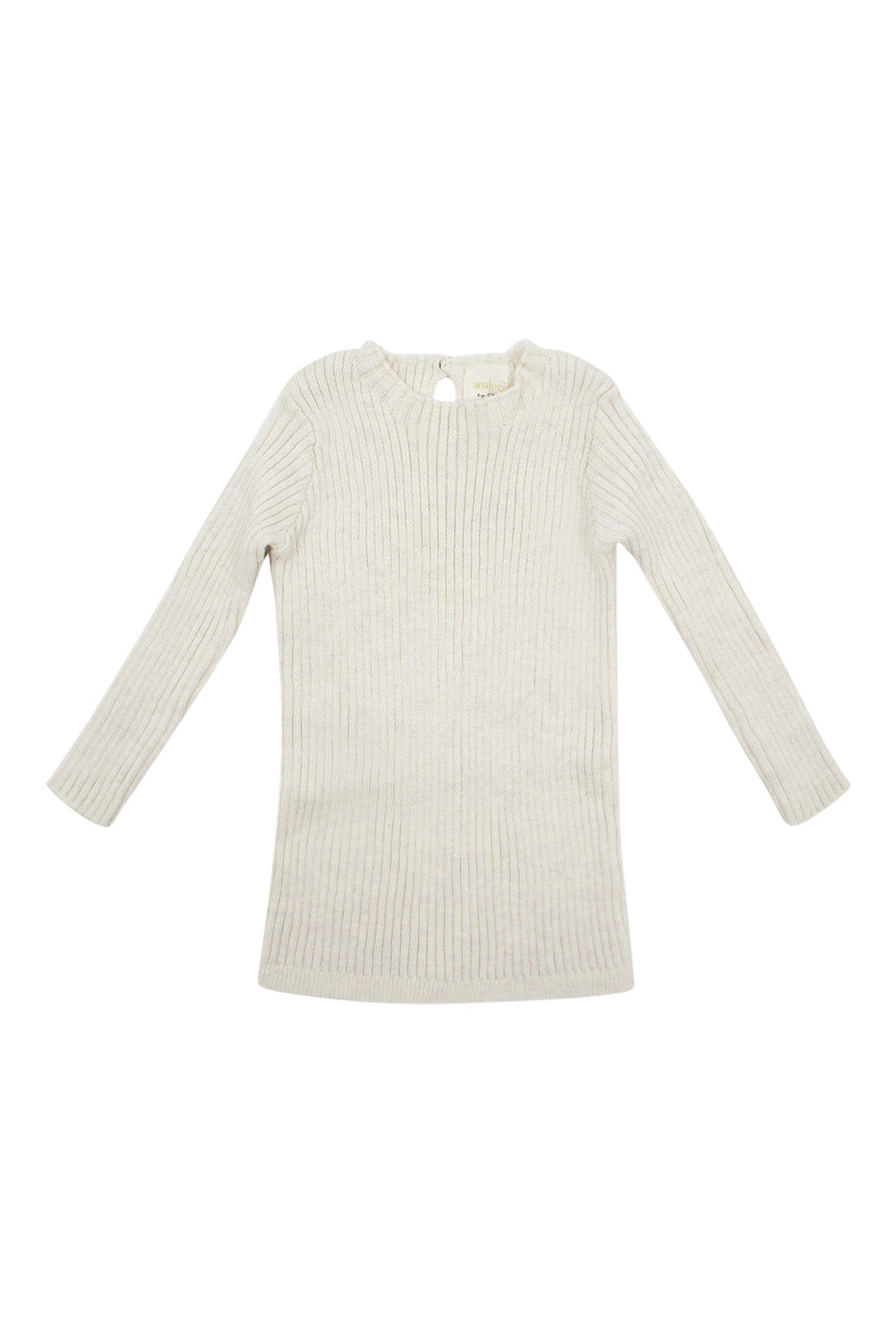 Analogie Vintage Ecru Long Sleeve Knit Sweater